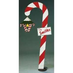 78 Inch Tall Candy Cane Lane Lantern - A Woodworking Full Size Pattern and Instructions Pkg to Build Your Own Yard Art Project (How Candy Canes Are Made)