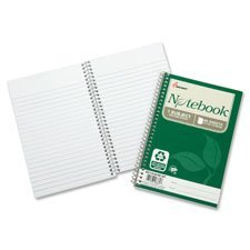 SKILCRAFT 7530-01-600-2013 100 Percent Recycled PCW Single-Subject Spiral Notebook, 5 x 7-1/2 Inch, 80 Sheets (Pack of 6)