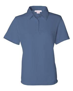 FeatherLite Ladies' Moisture Free Mesh Sport Shirt, Blueberry, Medium