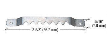 CRL Steel Sawtooth Hangers With Seven Notches and Nails Pack of 100 by CR Laurence by C.R. Laurence