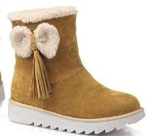 Laruise Women's Snow Boots Yellow 05JIKVmvQ