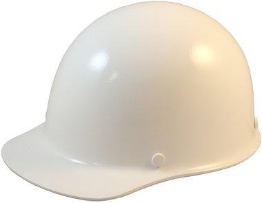 MSA SkullGuard Fiberglass Hard Hat- Cap Style With Staz On Suspension - Custom White Color