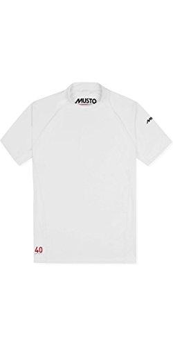 Musto Mens Insignia UV Fast Dry Short Sleeve T-Shirt Tee T Shirt Top White - Unisex - Easy Stretch