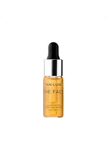 Tan-Luxe THE FACE Illuminating Self-Tan Drops ~ Light/Medium ~ Trial Size 0.14 fl oz