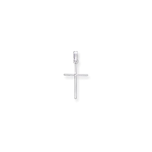 14k White Gold Cross Religious Pendant Charm Necklace Latin Fine Jewelry For Women Gift Set