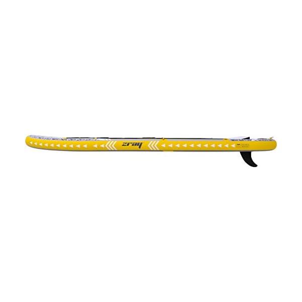 Zray 37511 X-Rider Deluxe X2 Stand Up Paddel Gonfiabile, Multicolore (Giallo/grigio/nero), 330 x 76 x 15 cm 6 spesavip