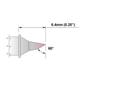 Thermaltronics PM80BS602 Bevel 60deg 1.8mm 0.07