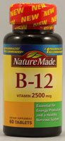 Nature Made Vitamine B-12 comprimés, 2500 mcg, 60 Comptage