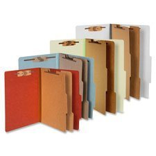 Classification Folders, 3 Exp, Legal, 2 Partition, Sky Blue by ACCO Brands