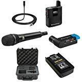 Sennheiser AVX Camera-Mountable Digital Wireless Handheld and Lavalier Set Bundle with SKB Waterproof Case and BA20 Recharging Battery Pack ()