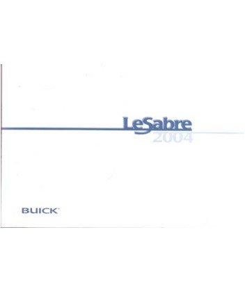 (2004 BUICK LESABRE Owners Manual User Guide)