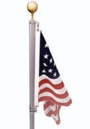 17' Flag Pole w/ Swivel by EZ Pole