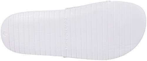Klein Canvas Jeans White Women's Flop Silver Calvin Flip Chantal AqdRFwSAI