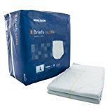 McKesson Adult Incontinent Brief, Ultra Tab Closure, Heavy Absorbency, Size Large, Color Blue, Packaged: 18 Per Bag, 4 Bags Per Case. 72 Diapers Total