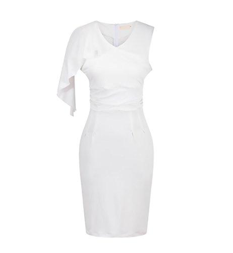 b26850169ab4 Volant For Senza Tubino Vestito Fit Maniche Dresses Cerimonia Slim Abiti  Cocktail Sera Abbigliamento Abito Moda ...