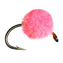 (Egg Fly Fishing Flies for Fly Fishing, sizes 8,10,12. 4qty of each size - Total of 1 Dozen (Peach, 8,10,12))