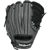 Wilson 6-4-3 Pedroia Fit Infield Baseball Glove, Black/Coal/White, 11-Inch, Left Hand Throw