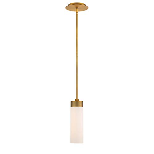 WAC Lighting PD-26611-27-AB DweLED Elementum 11in LED Pendant 2700K in Aged Brass Light Fixture, 11 Inches,