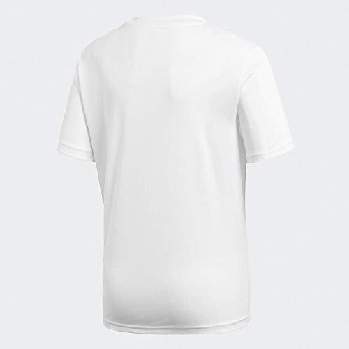 2483973-adidas-Core18-JSY-Y-Maglietta-da-Calcio-Unisex-Bambini-Bianco-White-B miniatura 3