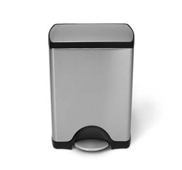 Rectangular Trash Can - simplehuman 30 Liter / 8 Gallon Stainless Steel Rectangular Kitchen Step Trash Can, Brushed Stainless Steel