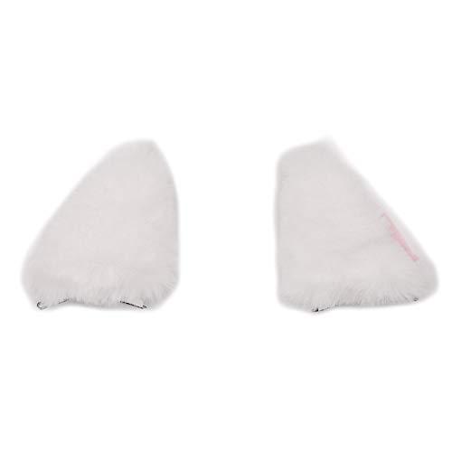 MaiYi 3D Faux Fur Fox Cat Ear Shape Hair Clips Ideal for Cute Anime Cosplay Party Costume Headwear -