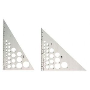 Alum Triangle - 6 Pack TRIANGLE ALUM 30/60 12 INCH Drafting, Engineering, Art (General Catalog) by Fairgate