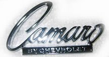 The Parts Place Chevrolet Camaro Header Panel & Trunk Emblem -