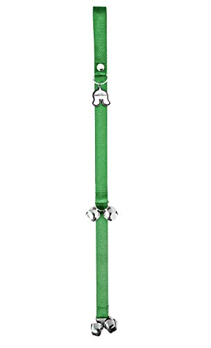Mighty Paw Tinkle Bells - 24 inch Dog Potty Training Doorbells, Puppy House Training Jingle Bells (Green)