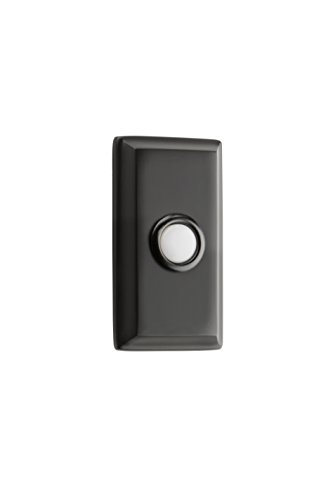 Rectangular Doorbell - Baldwin 9BR7015-010 Reserve Contemporary Rectangular Door Bell Button in Satin Black,