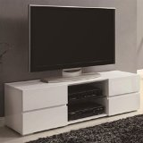 Console Low - Coaster Home Furnishings 700825 Contemporary TV Console, White