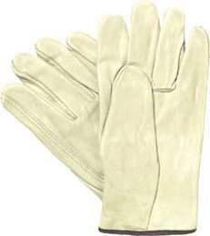Y0135M - Leather Driver, Straight Thumb - Bronze Solution Grain Leather Driver Gloves, Economy Choice, Wells Lamont - Each