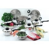 Chef's Secret 15-Piece Element Stainless-Steel Cookware Set