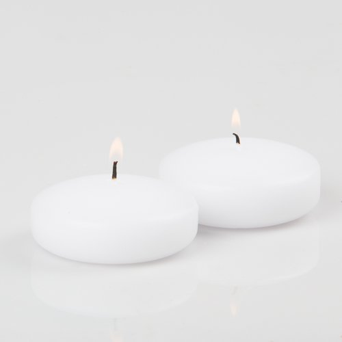 96 White Richland Floating Candles 3''