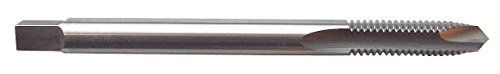 24 Nf Cut Thread - North American Tool 15841 HSS Left Hand Spiral Point Hand Tap, Uncoated Bright Finish, Plug Chamfer, 3/8