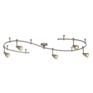 Hampton Bay Line Voltage Flexible Track Kit with 5 Mesh Shade Fixtures 10' Track in Brushed Steel Finish Brushed Steel