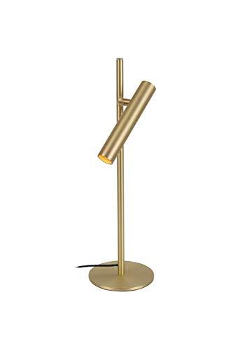 Lampara de mesa LED infinitamente regulable, lampara de noche, lampara de oficina, Lamparas de escritorio, lampara de lectura, operacion tactil,pequenas lamparas de pie, oro mate
