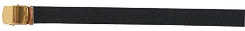 Cotton Canvas Military Web Belts, Black/Brass Buckle