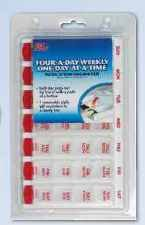 7-Day Multi-Dose Pill Reminder - Ezy Dose Weekly One-Day-At-A-Time Pill Planner