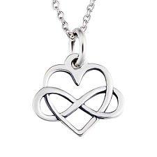 jacob alex #40596 Forever Infinite Knot Cross Love Heart Pendant Necklace 18