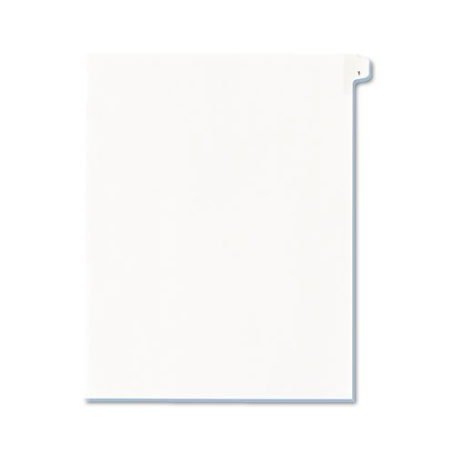 Avery Allstate-Style Legal Side Tab Divider, Title: 1, Letter, White, 25/Pack