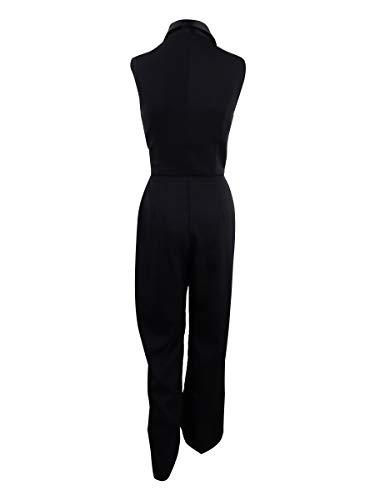 Adelyn Rae Women's Tuxedo Jumpsuit (S, Black) by Adelyn Rae (Image #2)