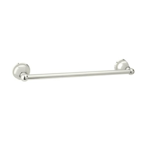 Rohl A6886/18PN 18-Inch Palladian Wall Mounted Single Towel Bar Rail in Polished Nickel by Rohl