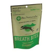 Pet Naturals of Vermont 0700721.021 Breath Bites for Dogs -21 count-Pack of -6