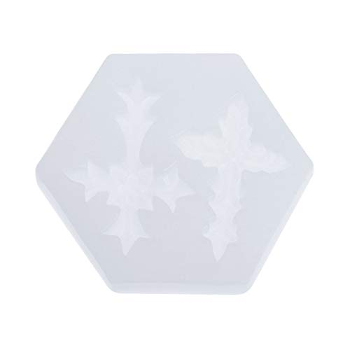 Hibye Epoxy Mold 3D Materials, Floral Cross Resin Making Epoxy For Jewelry, Cake, Chocolate,mousse,ashtray Etc