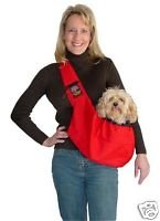 Outward Hound Sling Go Pet Carrier Red for Pets up to 20lbs ()