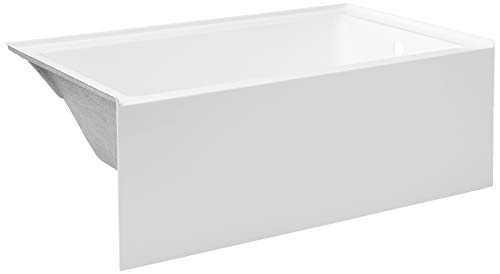 Kingston Brass VTAP603622R Aqua Eden 60-Inch Acrylic Alcove Tub with Right Hand Drain Hole 60 inch (L) x 36 inch (W) x 21-5/8 (D), White reviews