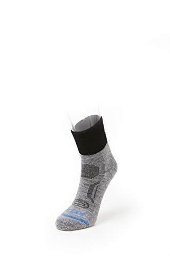 (FITS Performance Trail Quarter - Wool Socks, Light Grey, S)