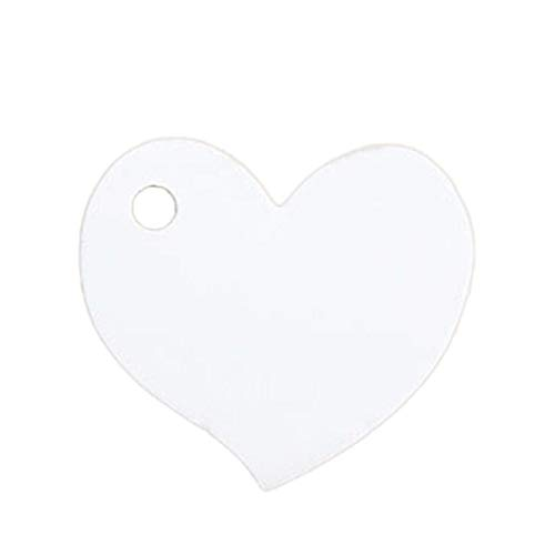Party DIY Decorations - 50pcs 4.54cm Heart Wedding Invitations Card Kraft Paper Craft Favors Decoration Halloween Christmas Birthday Party Supplies - (Color: -