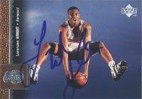 Lorenzen Wright Los Angeles Clippers 1997 Upper Deck Autographed Card - Rookie Card. This item comes with a certificate of authenticity from Autograph-Sports. Autographed