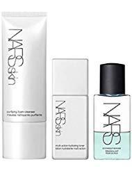 nars skin basic cleanse set, gentle oil eye makeup remover 1.6 fl. oz. purifying foam cleanser2.9 oz. multi action hydrating toner 1.6 fl. oz